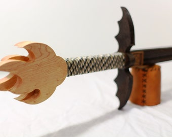 Dragon Wing Guard Sword - Wenge and Birdseye Maple