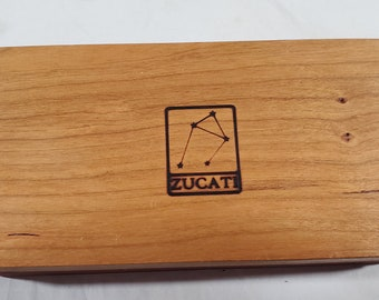 Zucati Dice Base™ Half Core Wood Case - Exactly As Seen - Cherry / Bloodwood