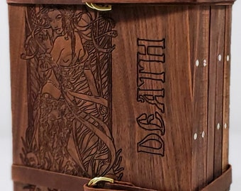 Zucati Dungeon Master Screen - Women of the Apocalypse - Engraved - Black Walnut with Purple Heart Accessories