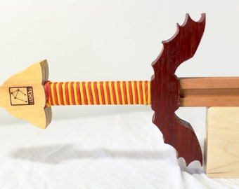 Dragon Wing Guard Sword - Solid Yellowheart - Paduk - Cherry