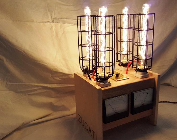 Featured listing image: ZUCATI MLG (Metered Light Generator) Tungsten Steam Punk Lamp Prototype #1