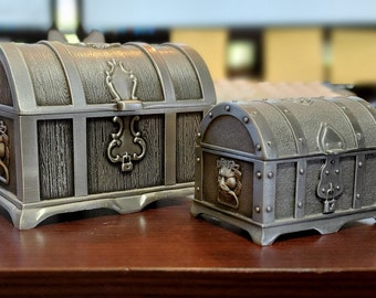 Solid Metal Treasure Chests - Perfect for your most precocious treasures - Velvet Lined