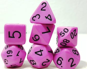 Perfect Plastic Dice - Gloss Polish with Ink - Pink / Black Ink