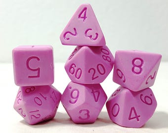 Perfect Plastic Dice - Single Polish - Pink