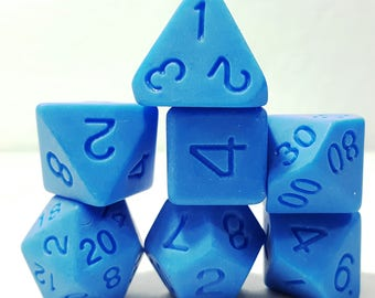 Perfect Plastic Dice - Single Polish - Blue