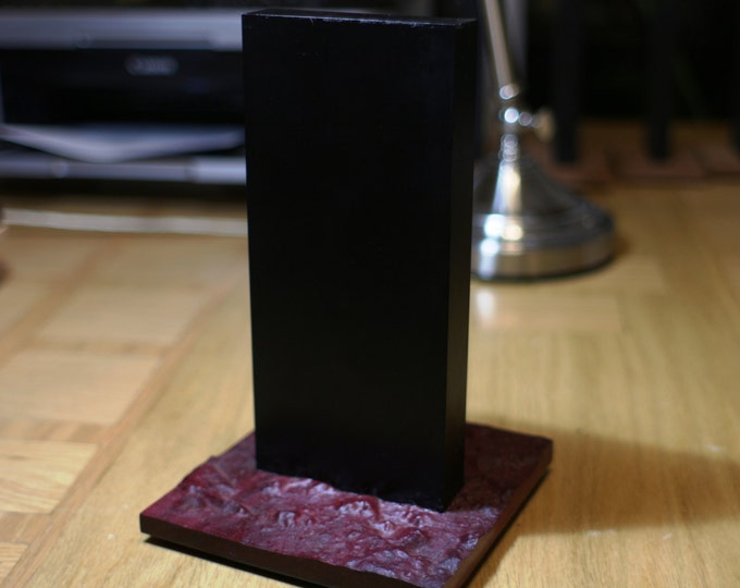 Featured listing image: Material Certified MT-185 Perfect Monolith - Large - 3D Carved PurpleHeart Base