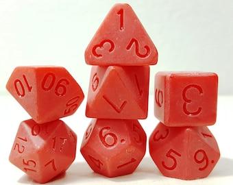 Perfect Plastic Dice - Single Polish - Red