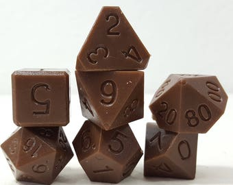 Perfect Plastic Dice - RAW - Brown