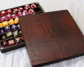 Zucati Dice Case / Tray / Rolling Surface Player Core - Burnt Sugar Maple