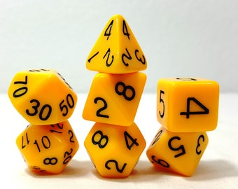 Perfect Plastic Dice - Gloss Polish with Ink - Yellow / Black Ink