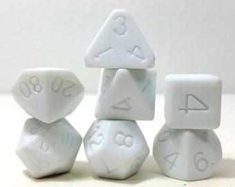 Perfect Plastic Dice - Single Polish - White