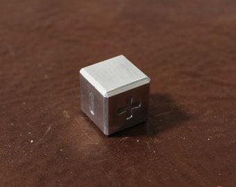 "Zucati EleMetal Individual D6 FUDGE / FATE Dice (0.68"" Flat to Flat) Single Die"