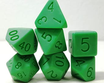 Perfect Plastic Dice - Single Polish - Green
