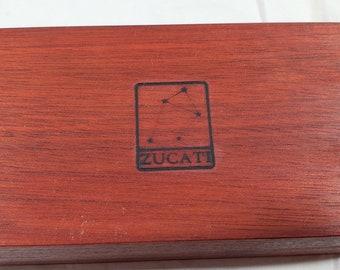 Zucati Dice Base™ Half Core Wood Case - Exactly As Seen - Bloodwood
