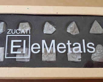 Zucati Elemetals Campo Del Cielo Meteorite 10pc Polyhedral Dice Set