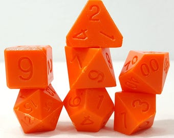Perfect Plastic Dice - RAW - Orange