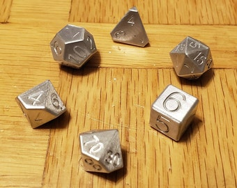 Zucati Elemetal 10mm Alumnium Dice Set of 7
