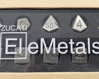 Zucati Elemetals Cast Iron 10pc Polyhedral Dice Set