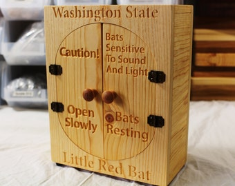"Zucati ""Little Red Bats"" Bat Box / House - Pine - Washington State"