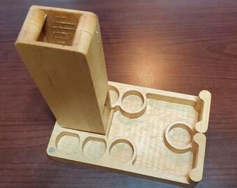 Zucati Dice Tower/ Dice Tray / Dice Case - Flume Fusion - Birdseye Maple