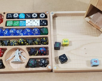 Zucati Flume 2: Figure - Dice tower - Dice Organizer - Rolling tray - Cherry Hardwood