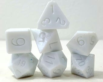 Perfect Plastic Dice - RAW - White