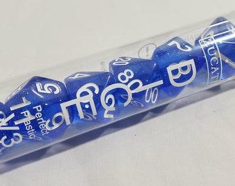 Perfect Plastic V3 Dice: Starlight Blue - White Ink
