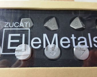 Zucati EleMetal™:  10 Metal Mixed Polyhedral Master Set 1/1 Stainless /  Aluminum