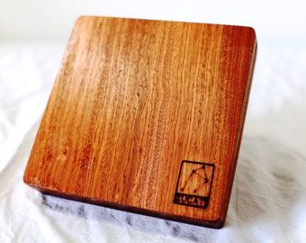 Zucati Dice Case / Tray / Rolling Surface Player Core - Sapple Wood