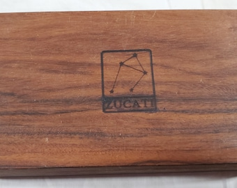 Zucati Dice Base™ Half Core Wood Case - Exactly As Seen - Rosewood / Wenge