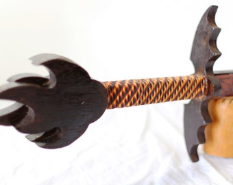 Dragon Wing Guard Sword - Solid Wenge Wood