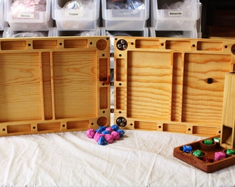 Zucati Dungeons and Dragons Master Screen - Pine with Flume Dice Tower