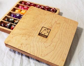 Zucati Dice Case / Tray / Rolling Surface Player Core - Birdseye Maple