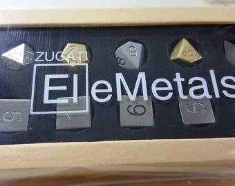Zucati EleMetal™:  10 Metal Mixed Polyhedral Master Set #2