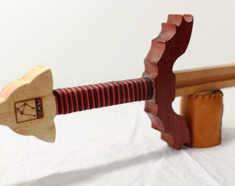 Dragon Wing Guard Sword - Solid Cherry - Birdseye Maple - Paduk