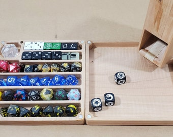 Zucati Flume 2: Standard - Dice tower - Dice Organizer - Rolling tray - Cherry Hardwood