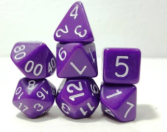 Perfect Plastic Dice - Gloss Polish with Ink - Purple / White Ink