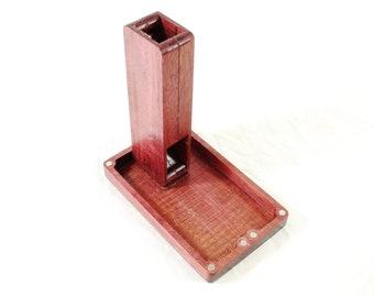 Zucati Dice Base™: FLUME Purpleheart wood Deepwater