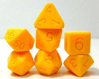 Perfect Plastic Dice - Single Polish - Yellow