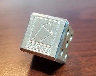 Sterling Silver (.925) Pipped 17mm die - Zucati