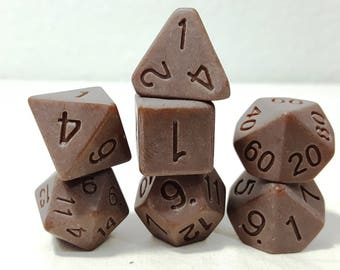 Perfect Plastic Dice - Single Polish - Brown