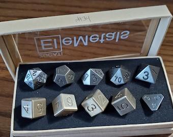 Final #34 Zucati EleMetal™ Cast Iron and Bronze Polyhedral Set - Custom- As Seen