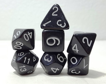 Perfect Plastic Dice - Gloss Polish with Ink - Black / White Ink