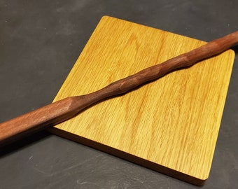 Rosewood Solid Wood Wand with Storage Vial and Magnetic Tip