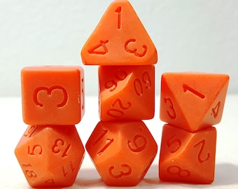 Perfect Plastic Dice - Single Polish - Orange