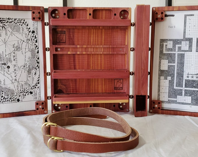 Featured listing image: Zucati Dungeon Master Screen - Master Bundle - Comes with Everything Seen - Aromatic Cedar
