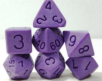 Perfect Plastic Dice - Single Polish - Purple