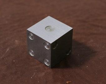 "Tungsten Prototype Casio Die 1"" Cube with Pips  - Single Die"