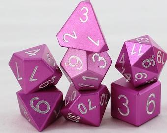 Zucati Dice EleMetal™ - 7pc set  - Petal Pink (S)