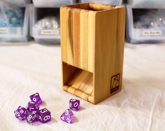 Zucati FLUME 2 Dice Tower - Mixed Woods